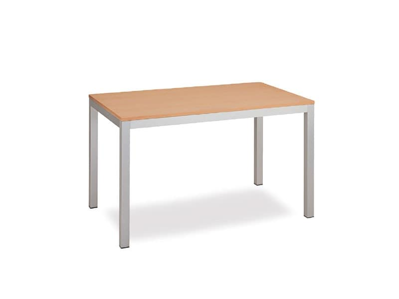 FT 044 rectangular, Table with clean design, in metal, for meeting room