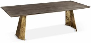 Icaro table, Rectangular table with iron base