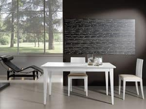 Complements Table 03, Extendable wooden table, perfect for modern living room