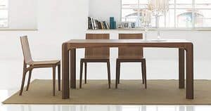 K�nesis, Dining table made of wood, with rounded edges