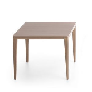 Table in solid wood for modern kitchen idfdesign for Table extensible quadrato