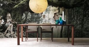 Sintesi, Extendable table in wood for dining room