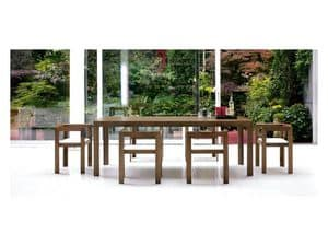 Tecno, Dining table fully made of walnut