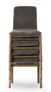 Cornelia stackable, Stackable chair, for contract use