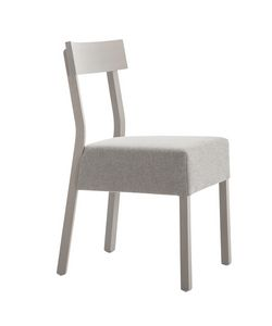 MP439E, Wooden chair with padded seat