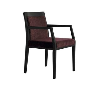 MP49EP, Comfortable padded chair, with wooden base