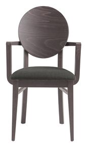 PL 49/W, Painted wooden chair with armrests