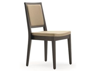 Saba-SI, Modern stackable chair in wood