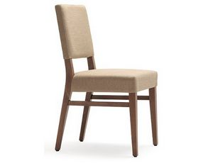 Selene-S1, Chair with wooden structure, padded