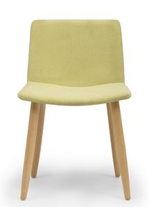 Web, Chair with wooden legs and upholstered shell