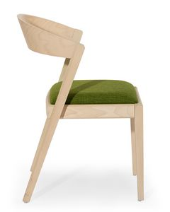 Zanna, Wooden chair with rounded back