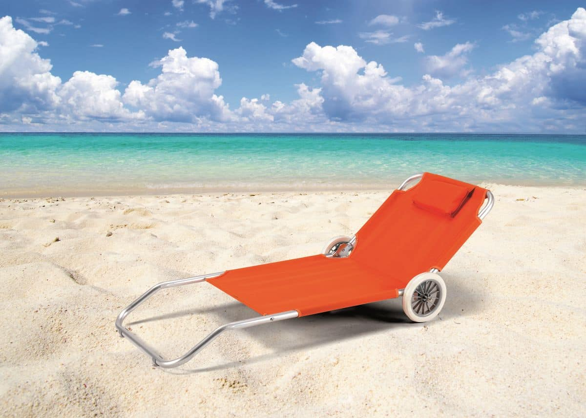 Sun Lounger With Wheels Sun Lounger With Cushion Idfdesign