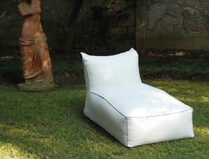Carr� chaise longue, Fully padded daybed, with various coverings