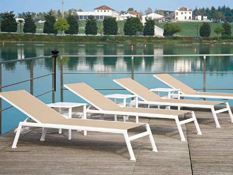 Swimming pool sunbed Beauty center MALINDI SUNLOUNGER 605/06 Lettino