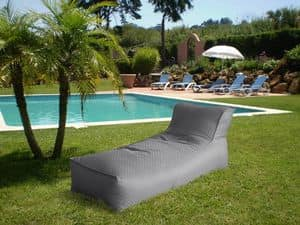 Deck chair made of plastic with armrests adjustable - Pouf piscine waterproof ...