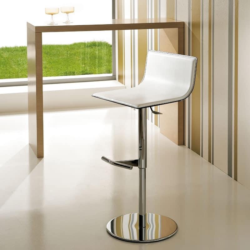 ART. 233/A LIFT, Modern adjustable barstool, gas lift, leather seat