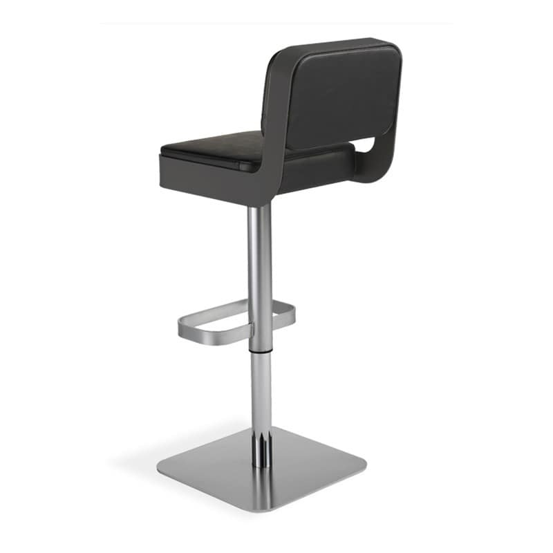 Swivel stool comfortable padded seat adjustable height for Most comfortable bar stools