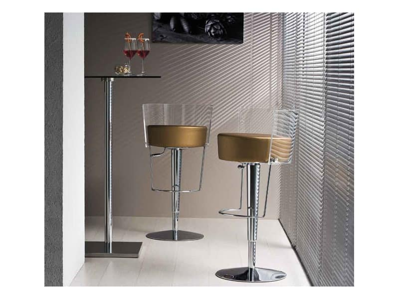 Swivel Stool With Adjustable Height Gas Lift Idfdesign