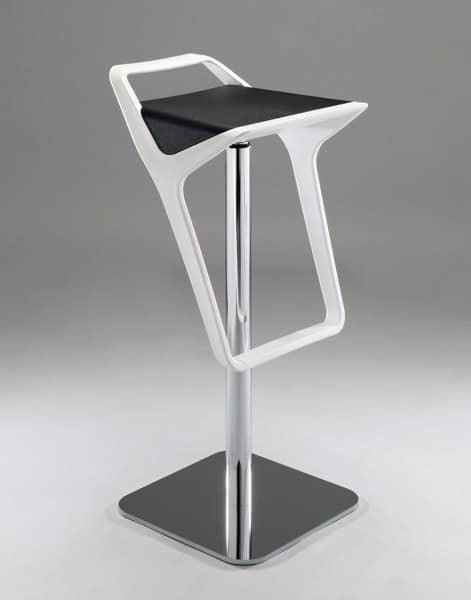 Delightful Freedom, Contemporary Adjustable Barstool With Technopolymer Seat