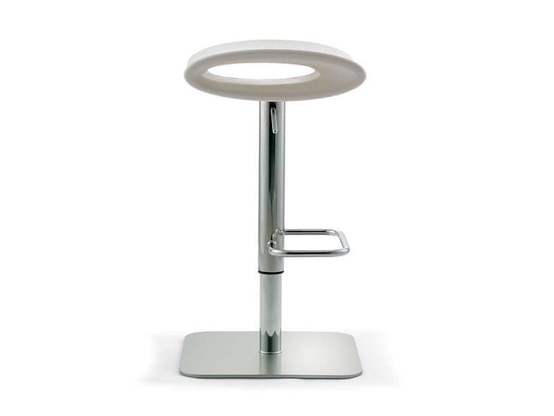 Ipanema adjustable, Swivel stool with adjustable height, seat in colored polyethylene, for lounge bar
