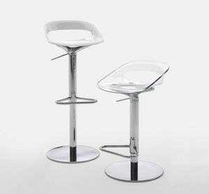 Nadia SP, Adjustable height stool, with swivel seat