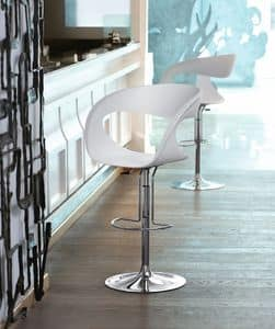 Raff SG, Design barstool with adjustable height, for Kitchen and Bar
