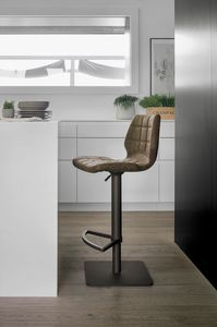 SANTIAGO SG189, Stool with square metal base