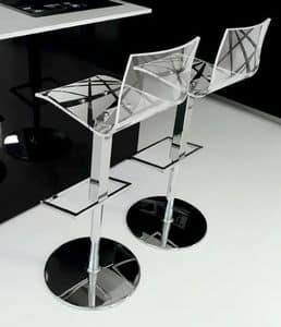 Picture of Star/SS, height adjustable barstool