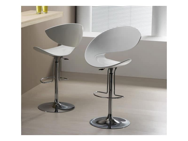 Design Swivel Barstool With Footrest For Kitchen Idfdesign