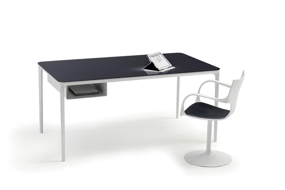 Essential Executive Table With Documents Storege For