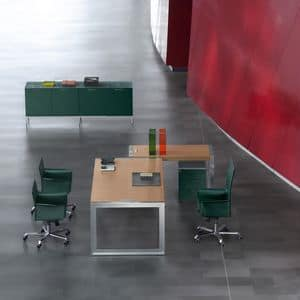 Picture of Strato desk return 210.PEDE, metal structure tables