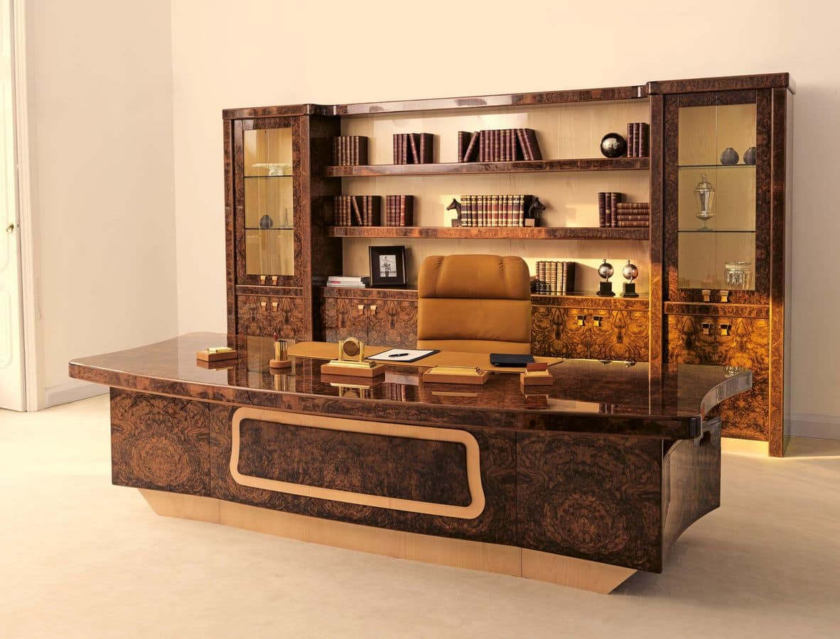 Desk in briar for presidential office classic for Classic contemporary furniture