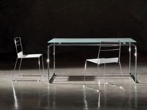 Picture of Linea  table, glass top tables