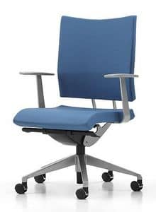 AVIAMID 3402, Upholstered chair, with armrests, for operational office