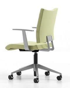 AVIAMID 3442, Padded chair with armrests, modern office