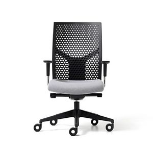 Fit poly, Office chair with backrest in polypropylene, adjustable