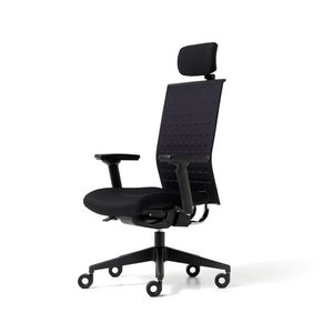 Fit up, Upholstered chair for office with wheels, armrests and headrests