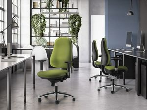 IBRA, Office chair with adjustable armrests and high back