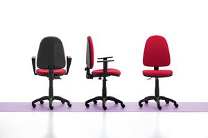 Viky 01, Simple office chair, with armrests and wheels