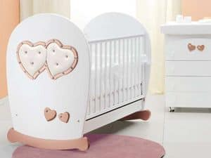 Picture of Soft Mama white bronze cot, crib