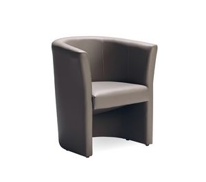 Duke 140, Tub chair, upholstered with leather