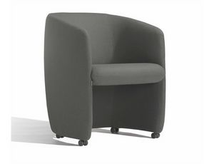 Plum 560RU, Upholstered armchair on castors