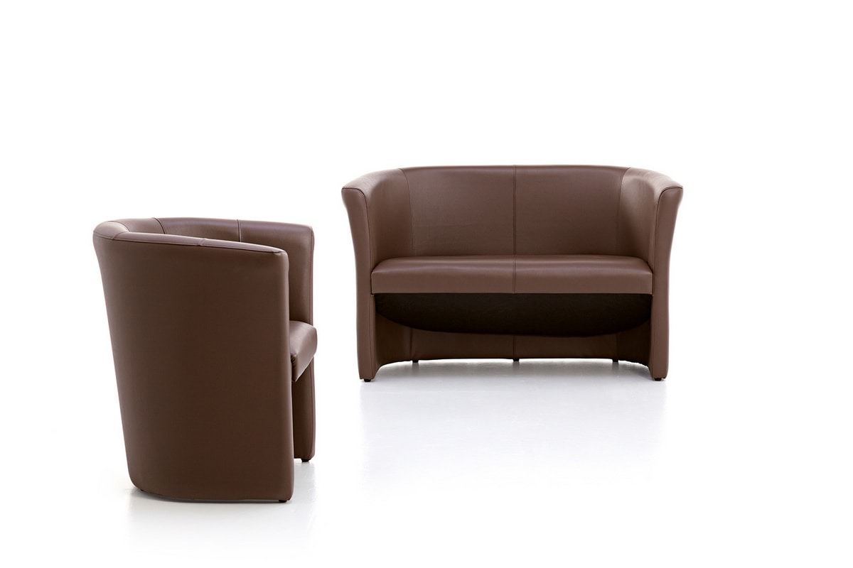 Tube 01, Tub chair, padded, for stays