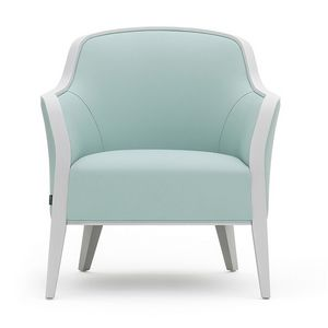 Wave 02741, Solid wood armchair suitable for contract use
