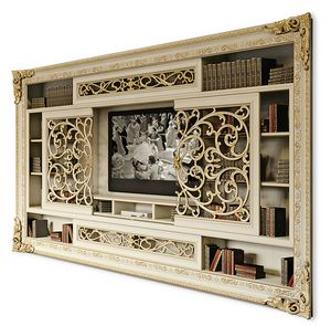 4095AB, TV cabinet with sliding doors