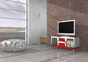 Chara, Mobile TV with wheels and drawers