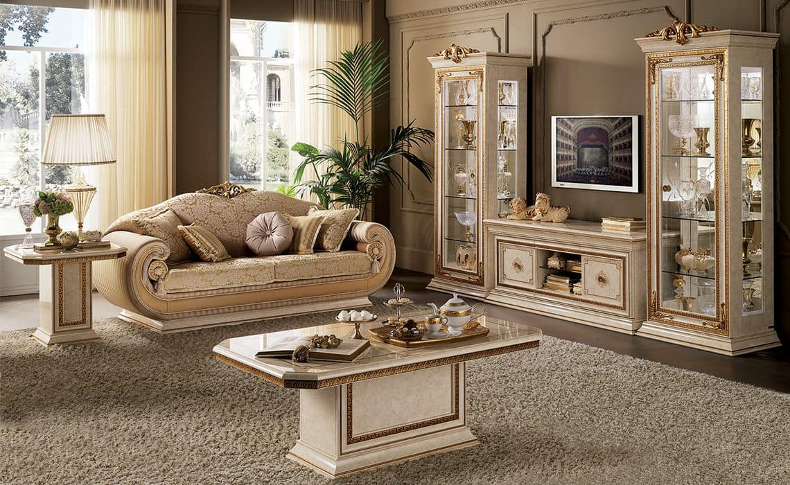 Leonardo tv cabinet tv cabinet for classic living room in for Sitting furniture living room