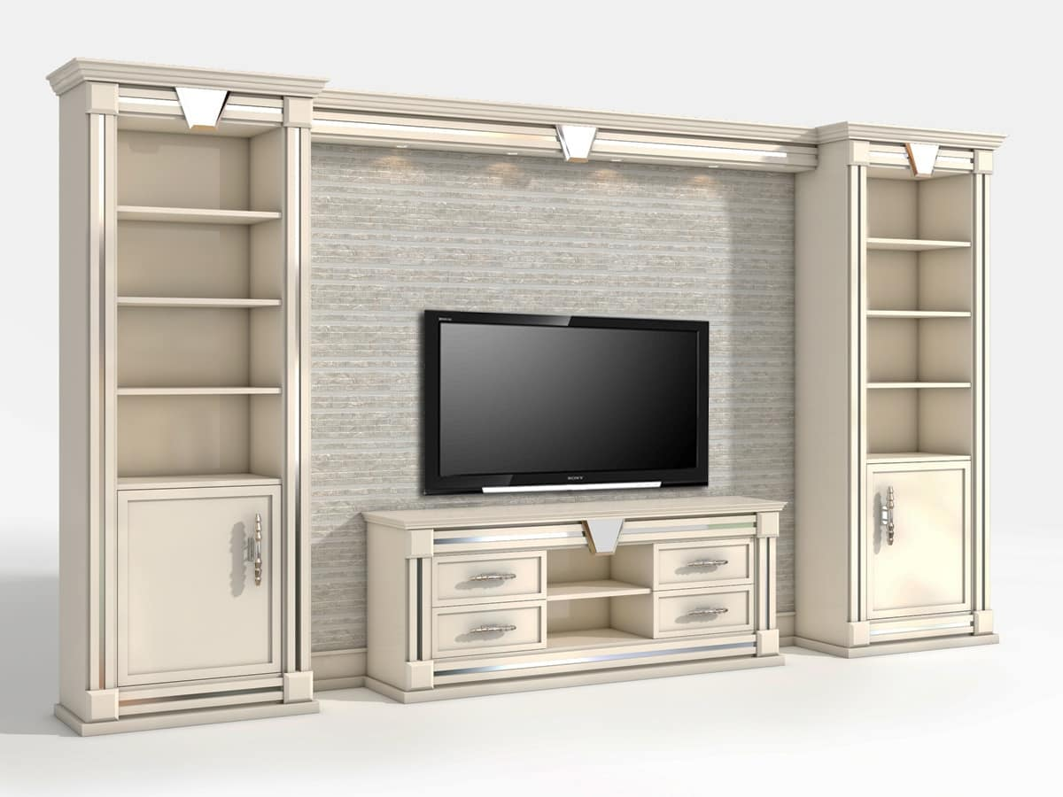 Tv Wall In Classic Contemporary Style
