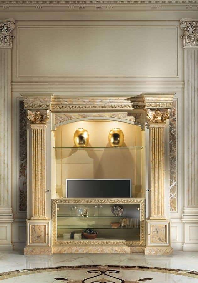 Classic luxury tv stand idfdesign - Porta televisore classico ...