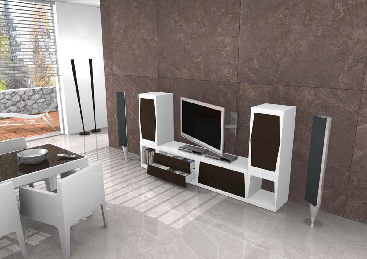 Tv stand in various sizes idfdesign - Porta tv in muratura ...